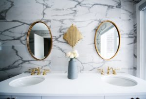a marble double vanity for your bathroom remodel